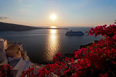 Sunset santorini island — Stock Photo