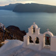 Sunsets island of Santorini — Stock Photo