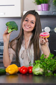 Vegetables or a cake? — Stock Photo