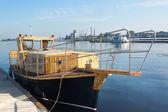 川のボート — ストック写真