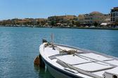 Rowing Boat in Zakythos harbour — Stock Photo