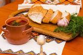 Pan y borsch ucraniano — Foto de Stock