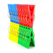 Color clothes-pegs — Stock Photo #14723743