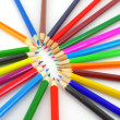 Color pencils over white — Stock Photo #14725785