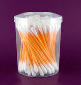 Set of ear cotton sticks — Stock Photo