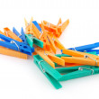 Color clothes-pegs — Stock Photo #17825357