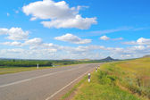 Beautiful summer landscape with highway — Stock Photo