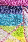 Color towel macro texture — Stock Photo