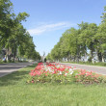 View on quay of river Volga in the city Samara — Stock Photo #35008127