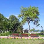 View on quay of river Volga in the city Samara — Stock Photo #35008247