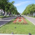 View on quay of river Volga in the city Samara — Stock Photo #35026865