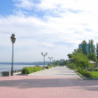View on quay of river Volga in the city Samara — Stock Photo #35037411