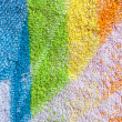Stock Photo: Color towel macro texture