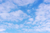 Beautiful blue sky with clouds — Stock Photo
