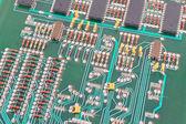 Old electronic circuit board — Stock Photo