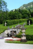 Parku w pałacu linderhof, niemcy — Zdjęcie stockowe