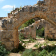 Ruins of Monfort castle, Israel — Stock Photo