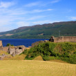 Stock Photo: Urquhart Castle and Loch Ness, Scotland