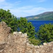 Urquhart Castle and Loch Ness, Scotland — Stock Photo