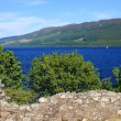 Ruins of Urquhart Castle and Loch Ness, Scotland — Stock Photo