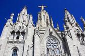 Chiesa del sacro cuore di gesù, tibidabo — Foto Stock