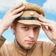 Portrait of soldier in retro style picture — Stock Photo #4693863