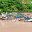 Stock Photo: Landing on ship for tourists walking on Yangtze River