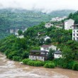 Stock Photo: Travel on the Yangtze River, with beautiful views of the mountai
