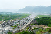 View of the Three Gorges Dam on the Yangtze River in China — Stock Photo