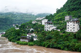 Yangtze River with views of the town — Stock Photo