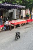 китайский художник краски на улице — Стоковое фото