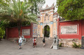 Tourists take pictures to the monastery — Stock Photo