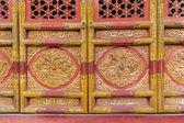 Fragment of chinese door — Stock Photo