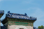 A fragment of Chinese roof — Stock Photo