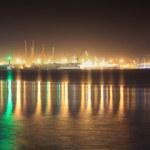 Seaport at night — Stock Photo