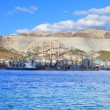 Port and cement plant - Foto Stock