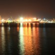 Panoramic view of seaport at night — Stock Photo #13398924
