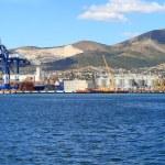 Panoramic view of seaport — Stock Photo