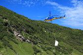 Hélicoptère avec sac — Photo