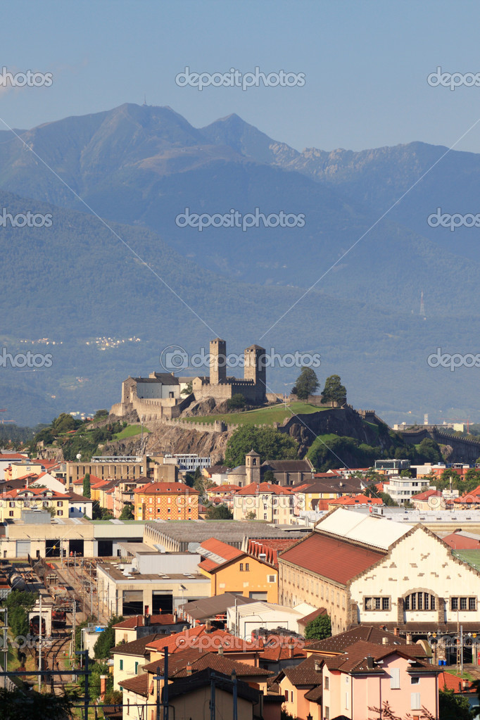 Castelgrande castle, town Bellinzona, Switzerland  Stock Photo #16048663