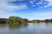 Tropická vesnice — Stock fotografie