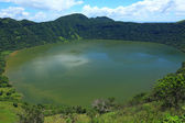 Lake in volcanic crater — Stock Photo