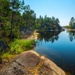 Rocky islands of Ladoga lake — Stockfoto