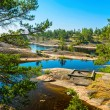 Rocky islands of Ladoga lake — 图库照片