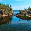 Rocky islands of Ladoga lake — Stock Photo