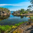 Rocky islands of Ladoga lake — Foto Stock