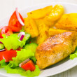 Royalty-Free Stock Photo: Chicken fillet with fresh vegetable salad