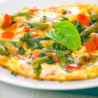 Omelet with green bean — Stock Photo #12803760