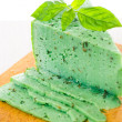 Green Basiron Pesto cheese — Stock Photo