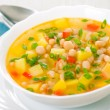 Vegetarian white bean soup — Stock Photo #13211466